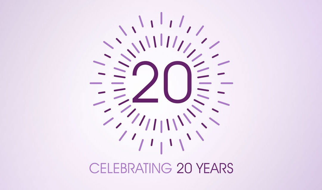 We're celebrating 20 years of purple!