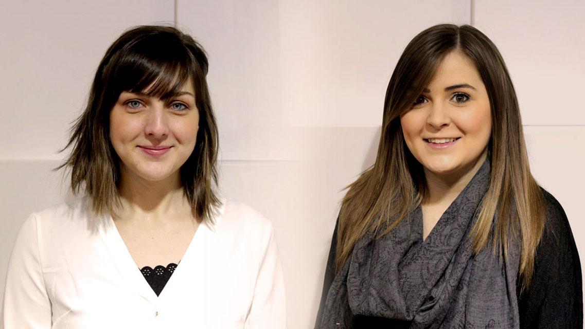 New team member Holly and Kara
